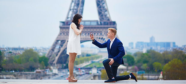 You can propose to your partner while exploring new places together.